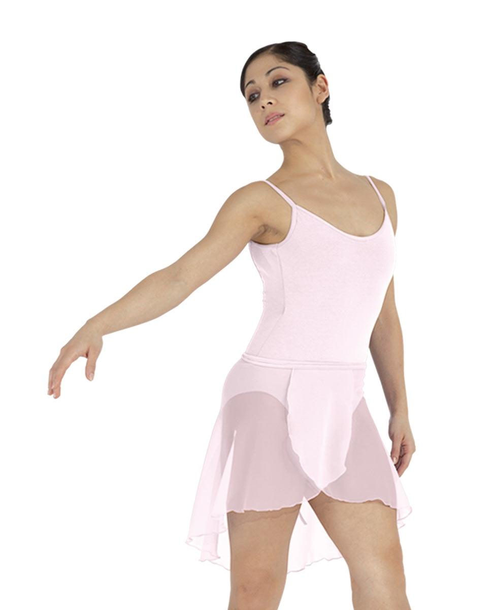 חצאית מעטפת של פלום מבד שיפון