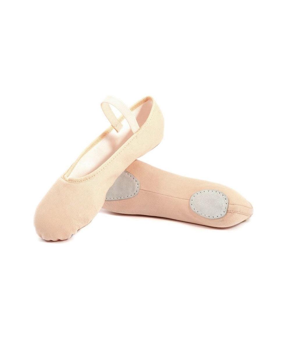 נעלי בלט סוליה מפוצלת מבד וגומי תפור