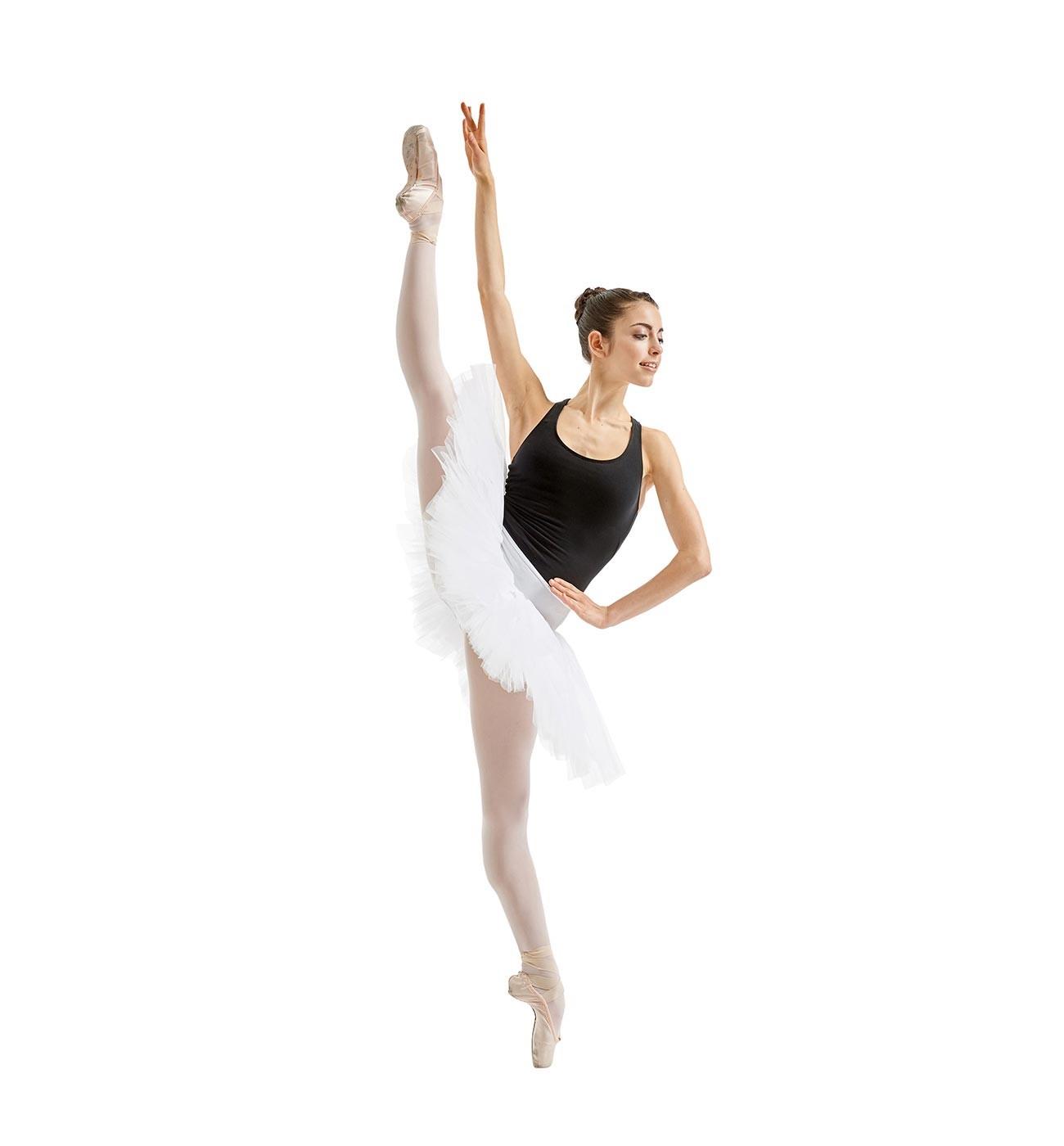 לבן חצאית טוטו Adelaide של Lulli משבע שכבות טול LUBTUP01