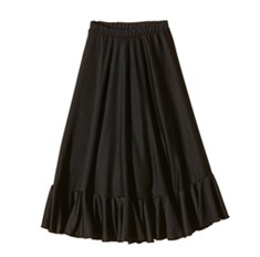 חצאית פלמנקו עם וולן עד הקרסול
