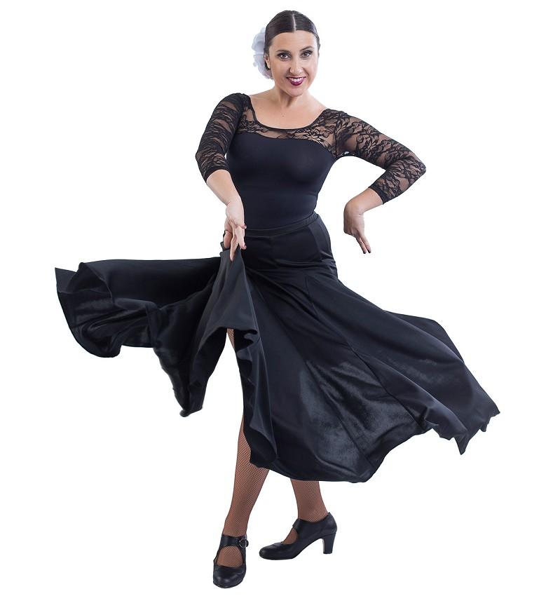 חצאית פלמנקו עשירה בבד