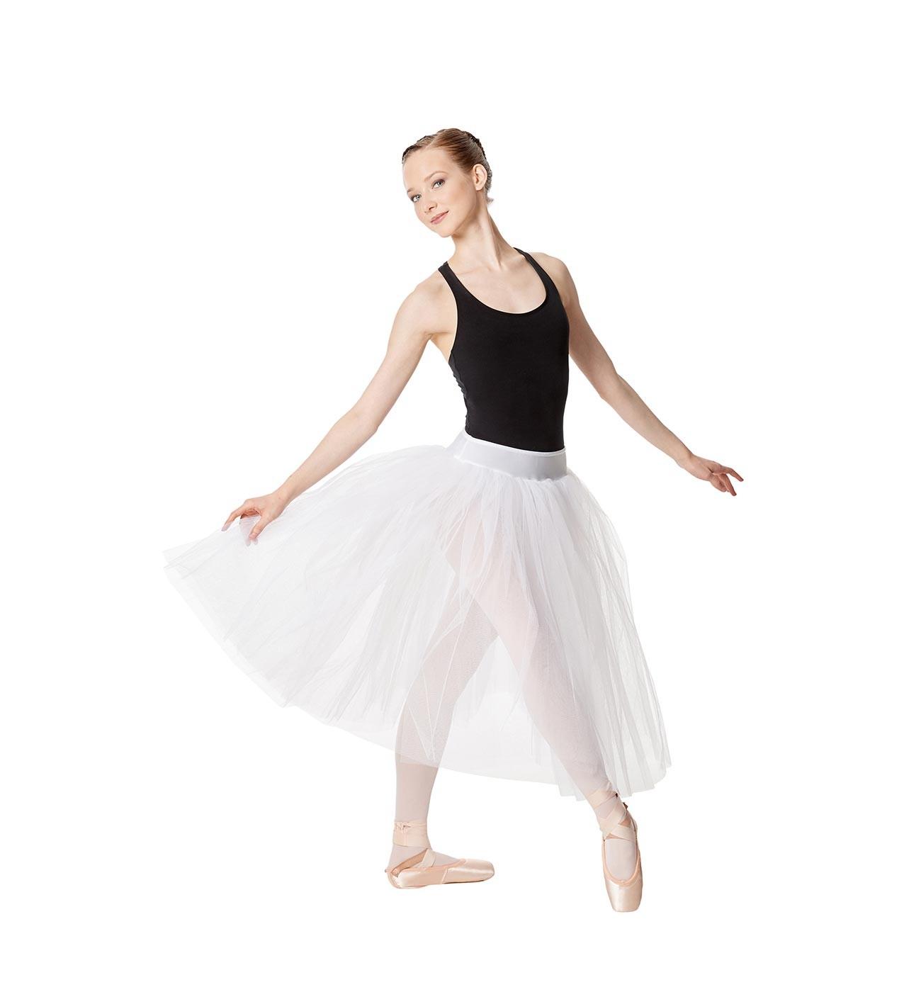 לבן חצאית טול רומנטית Aerin של Lulli שלוש שכבות LUBTURA