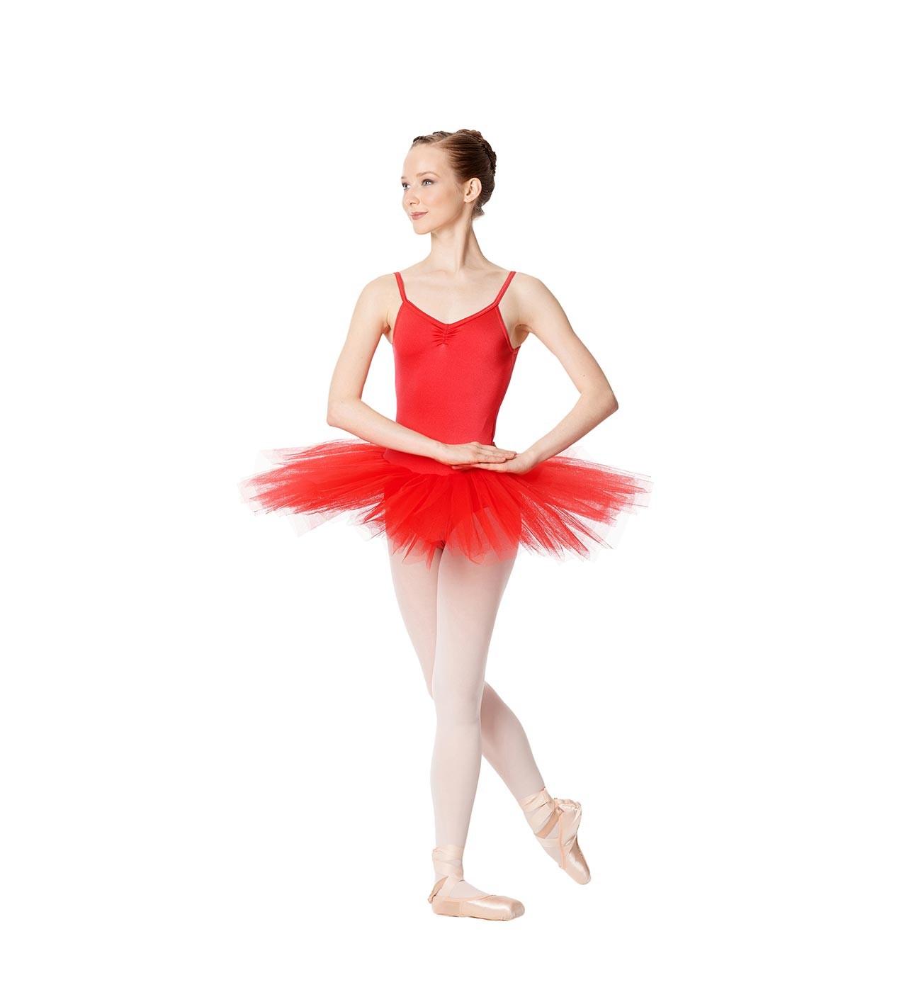 אדום שמלת טוטו Everly של Lulli מ- 4 שכבות טול LUBTU01A
