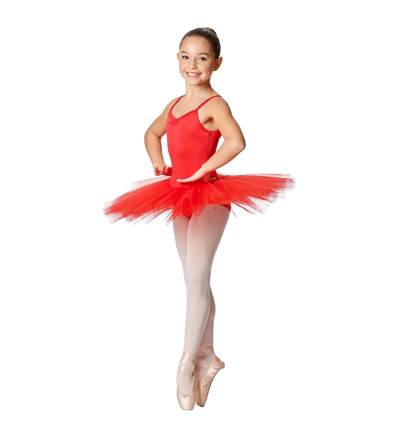 אדום שמלת טוטו לילדות Everly של Lulli ארבע שכבות טול LUBTU01C