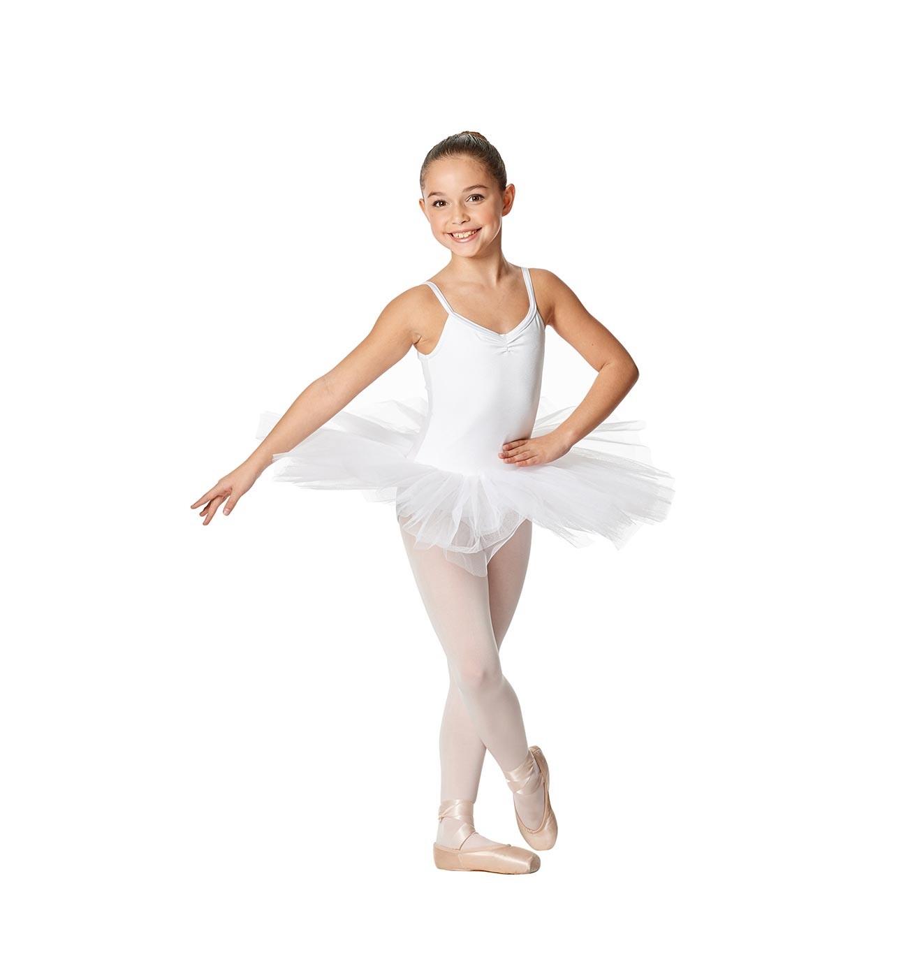 לבן שמלת טוטו לילדות Everly של Lulli ארבע שכבות טול LUBTU01C