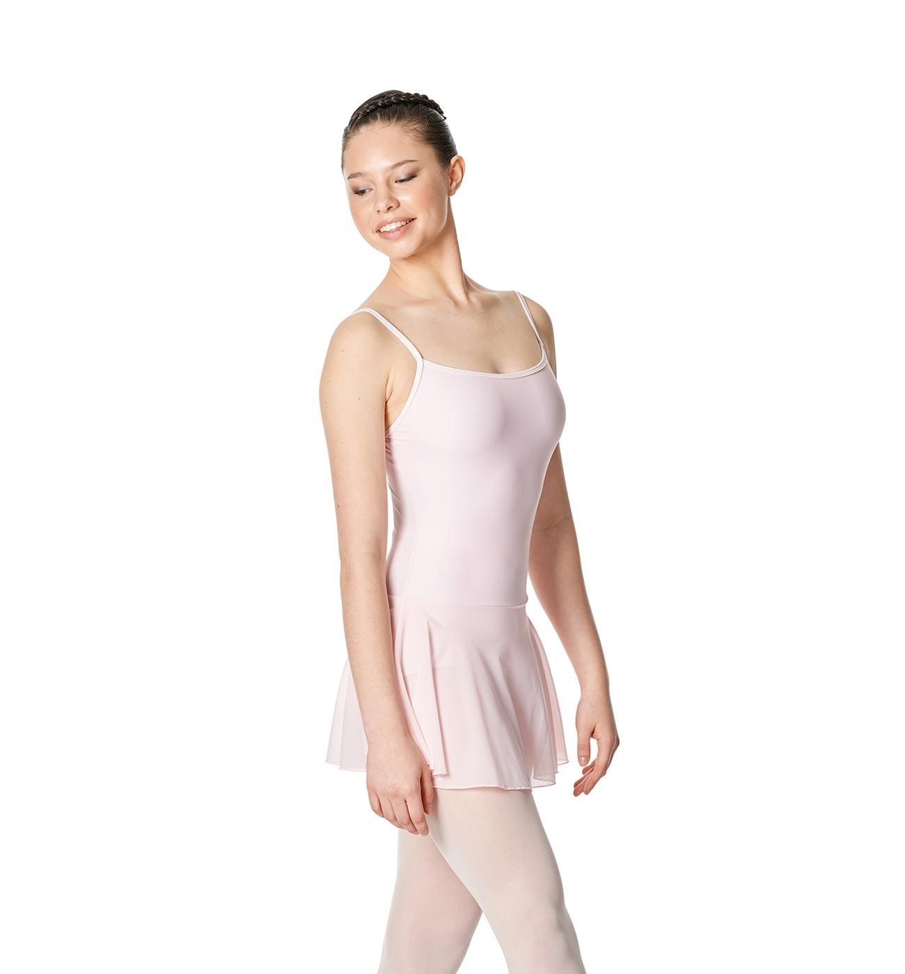 ורוד שמלת בלט Lillian של Lulli כתפיות דקות וחצאית רשת LUB254