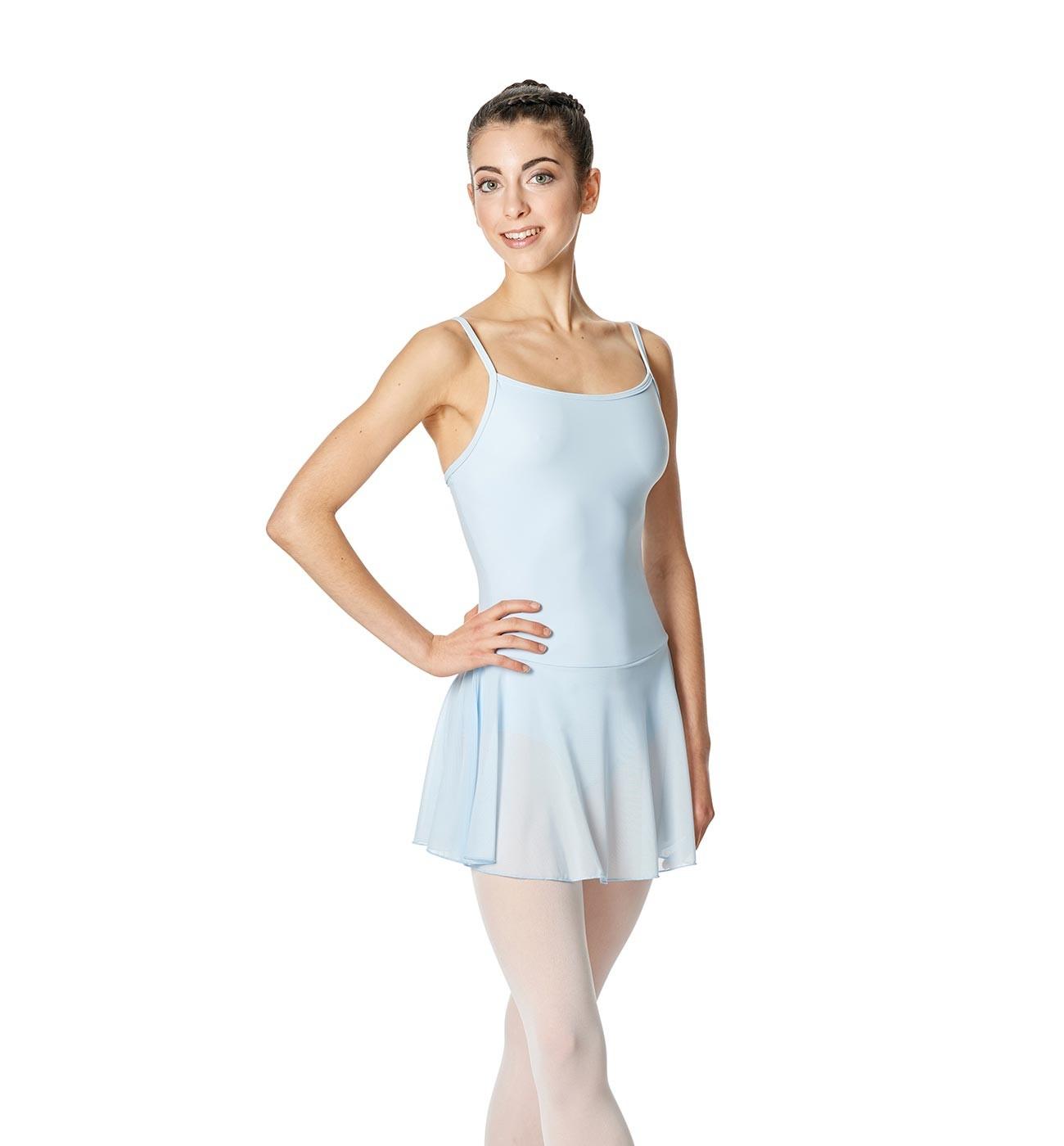 תכלת שמלת בלט Lillian של Lulli כתפיות דקות וחצאית רשת LUB254