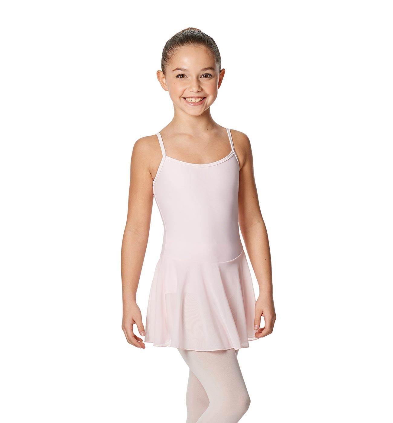 ורוד שמלה לילדות Lillian של Lulli כתפיות דקות וחצאית LUB254C