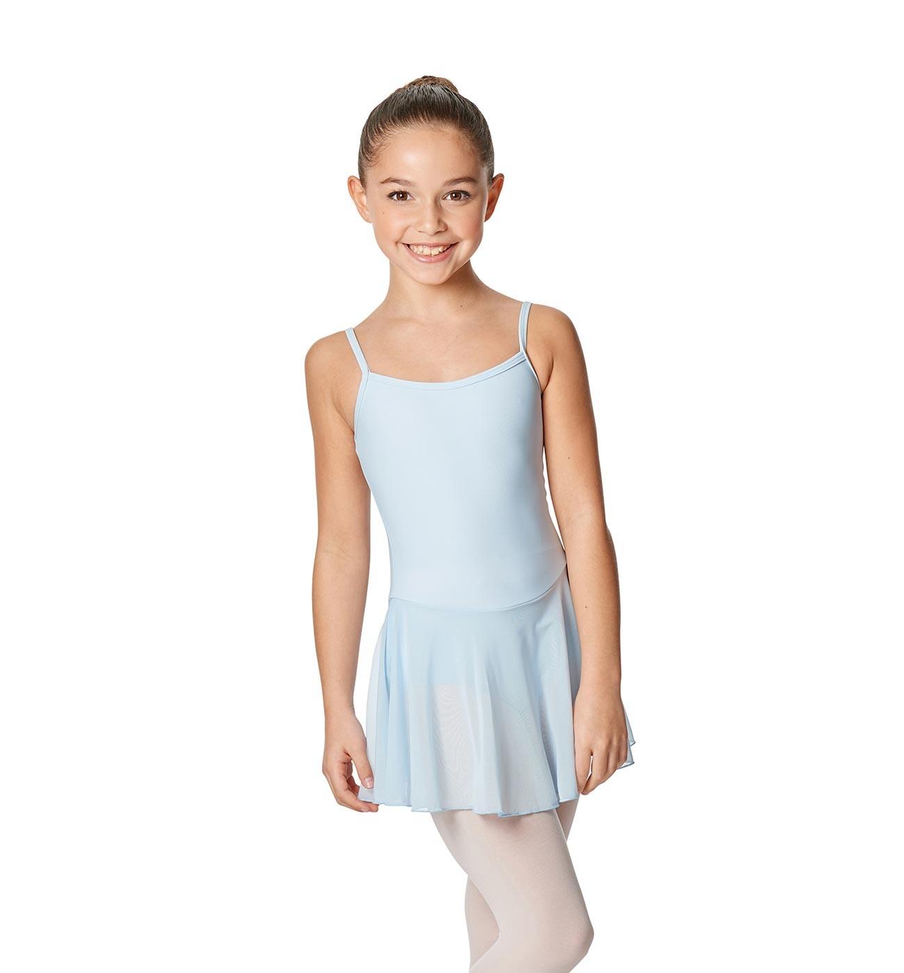 תכלת שמלה לילדות Lillian של Lulli כתפיות דקות וחצאית LUB254C