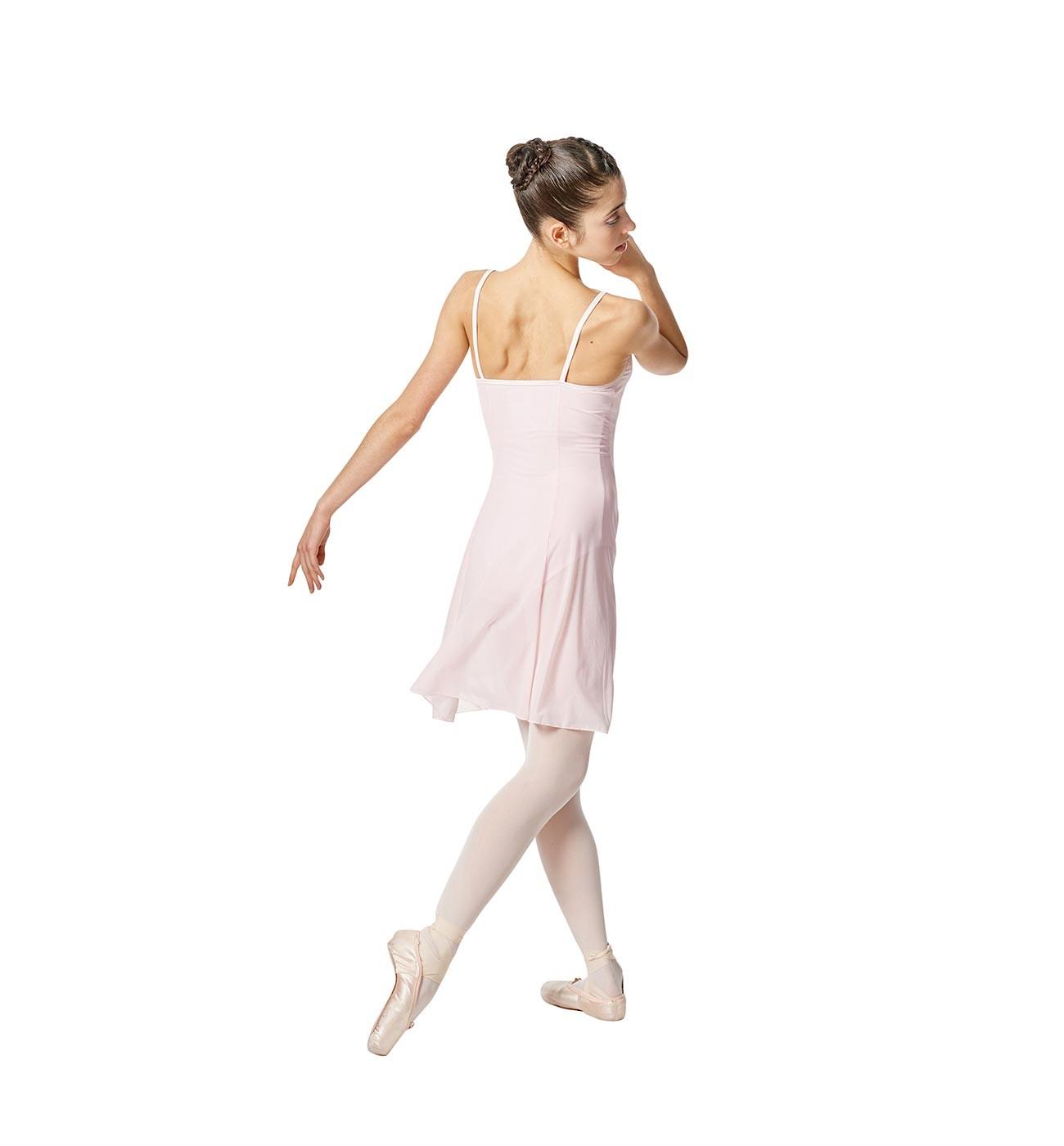 ורוד שמלת בלט Natalie של Lulli עם שמלת רשת שקופה LUB255