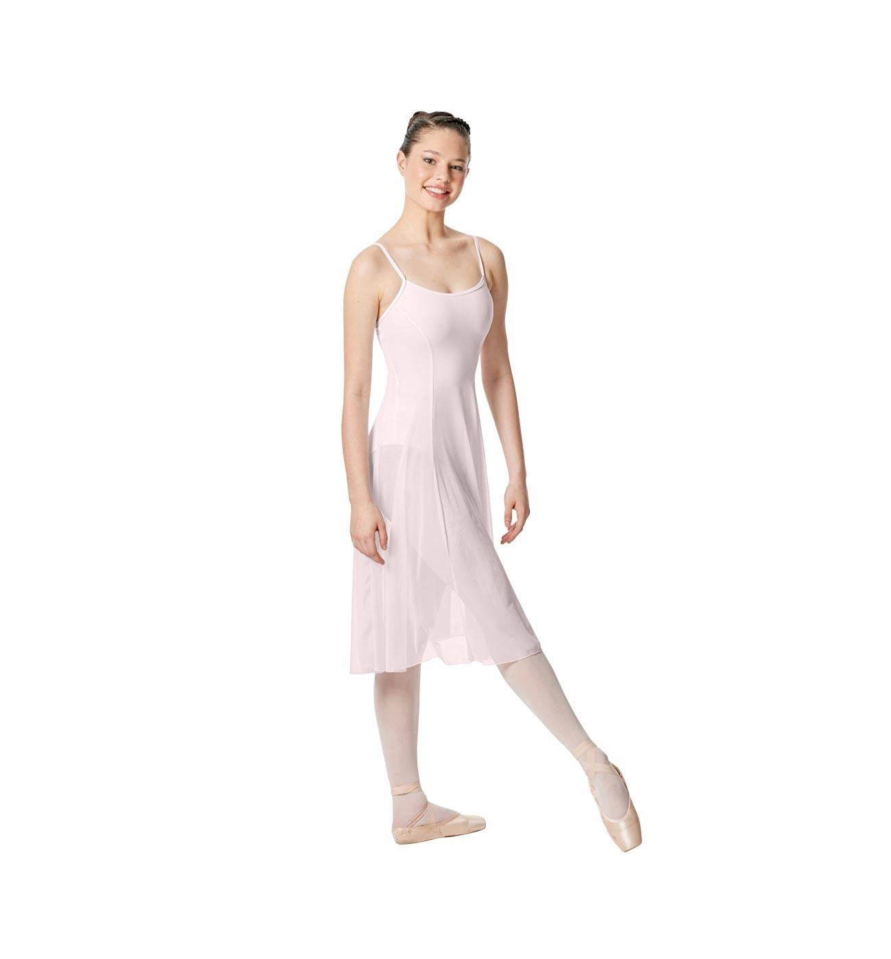 ורוד שמלת בלט Claire של Lulli עם רשת ארוכה במיוחד LUB256