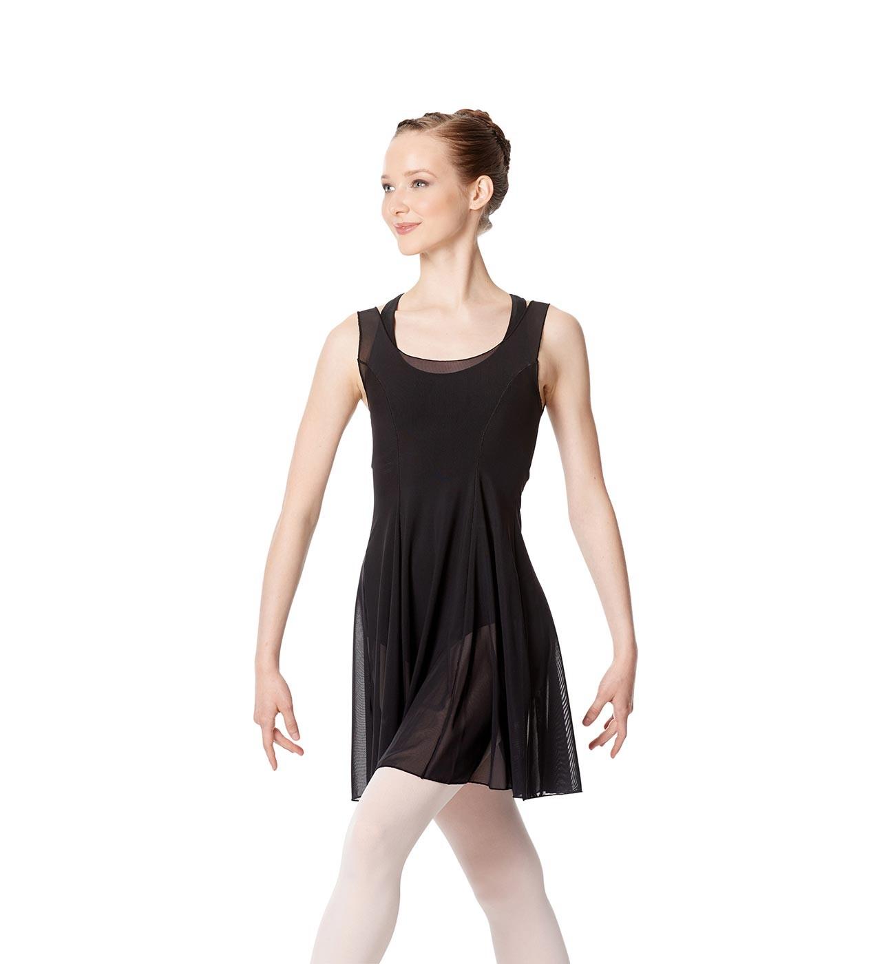 שחור שמלת בלט Kimberly של Lulli מבד רשת עדינה LUB257