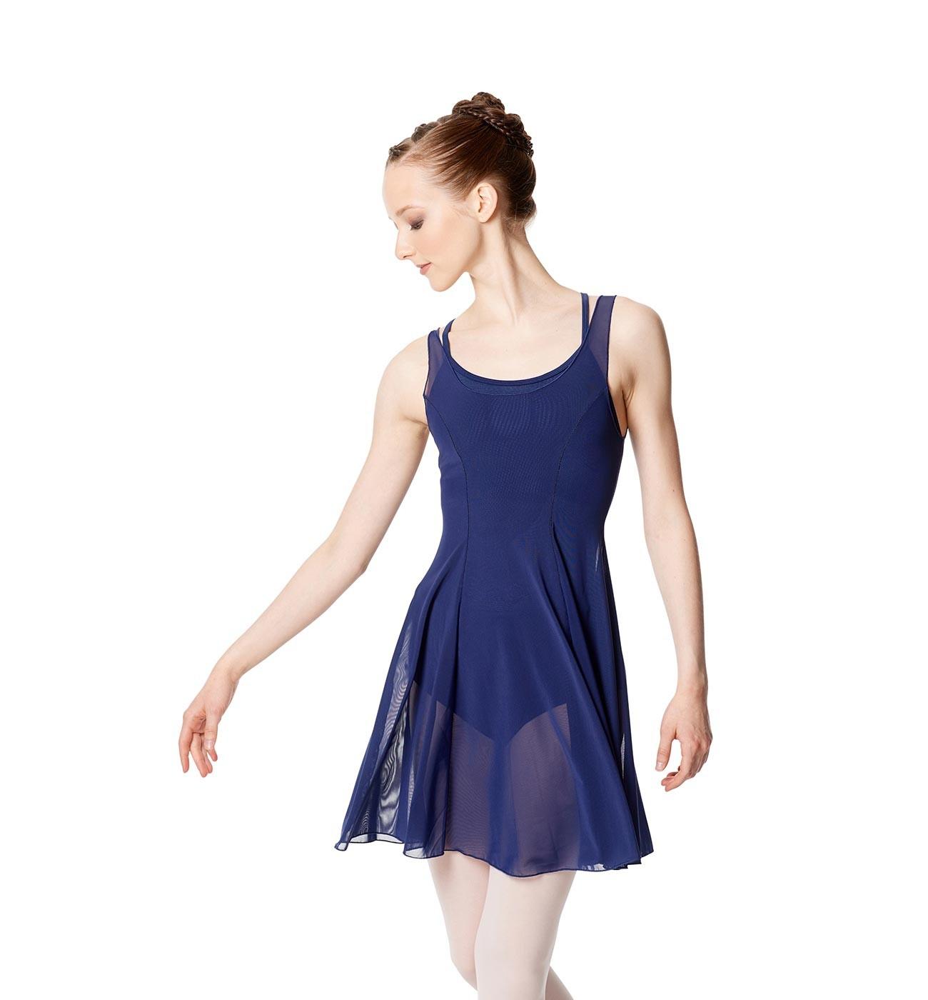 כחול כהה שמלת בלט Kimberly של Lulli מבד רשת עדינה LUB257
