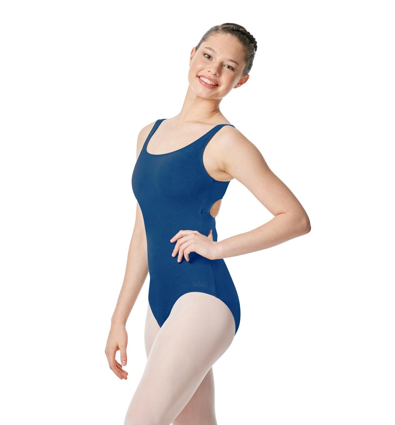 כחול בגד גוף Charlie של Lulli עם כתפיות רחבות LUB258