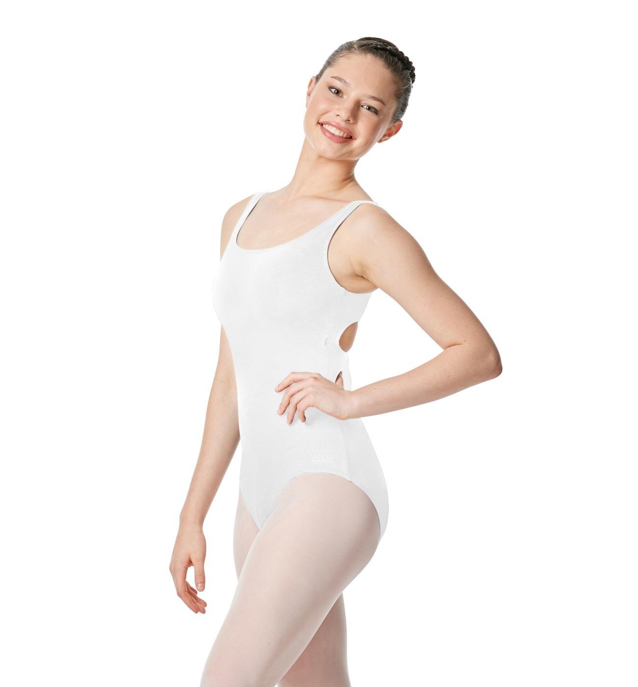לבן בגד גוף Charlie של Lulli עם כתפיות רחבות LUB258