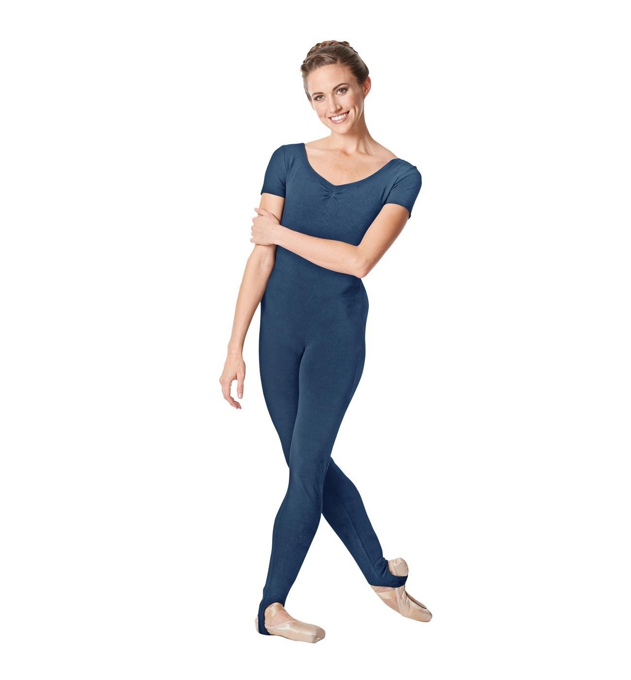 ג'ינס אוברול למחול Winona של Lulli שרוול קצר עם רגלית LUB262