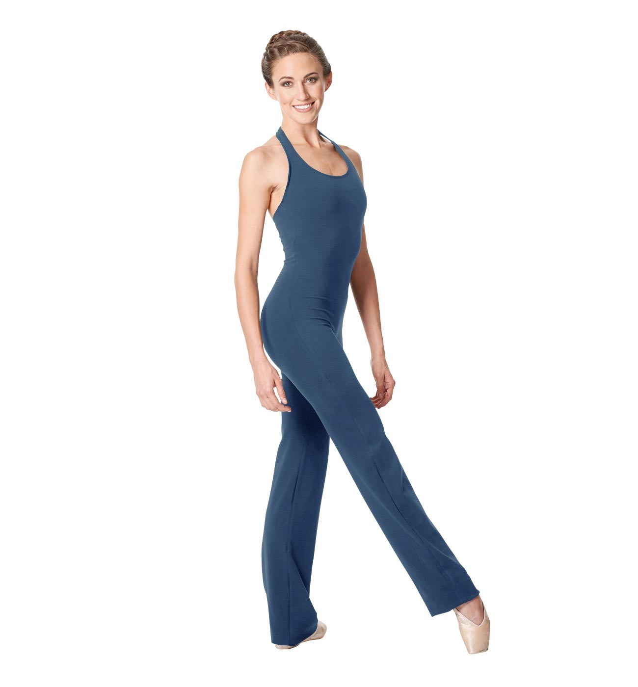 ג'ינס אוברול למחול Alyssa של Lulli בגזרת קולר מכותנה LUB263