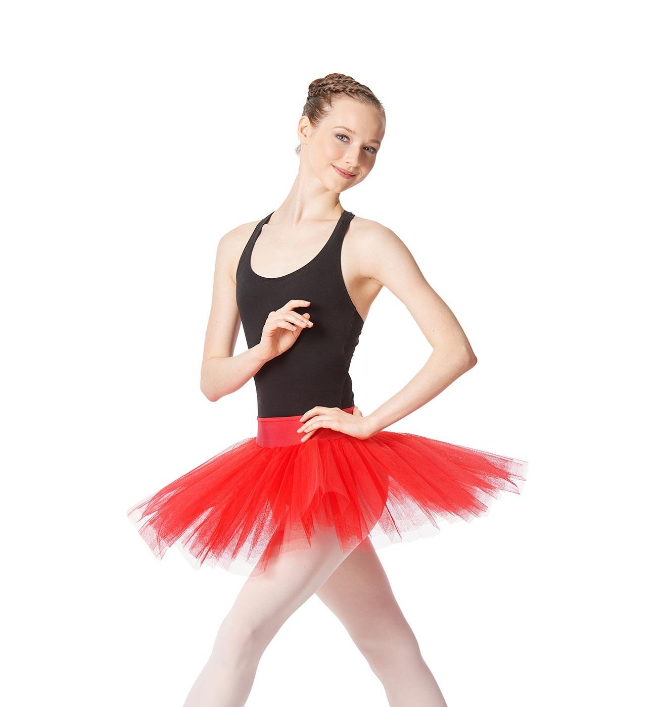 אדום חצאית טוטו Jordyn של Lulli ארבע שכבות טול LUBTU02A