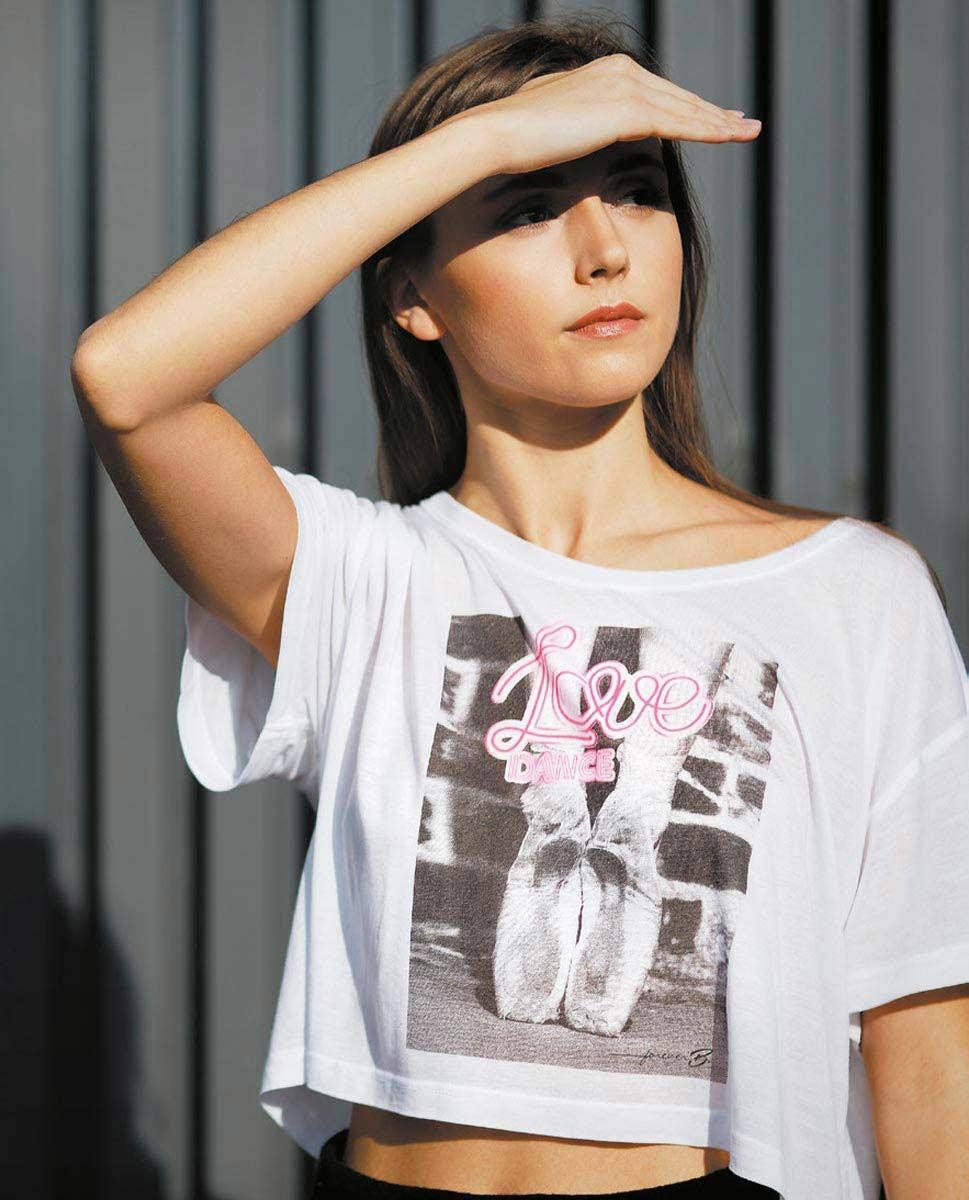 חולצת בלט עם הדפס