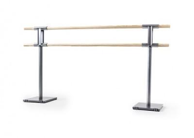 בר בלט כפול מעץ על גלגלים אורך 3 מ'