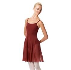 בגד גוף מלייקרה מט מחובר לשמלת רשת