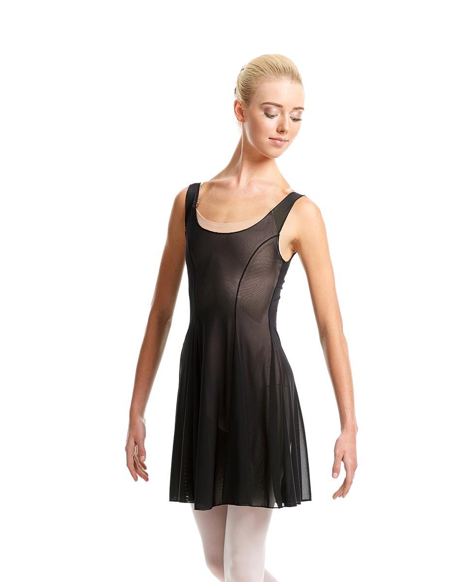 שמלת ריקוד מבד רשת אלסטית