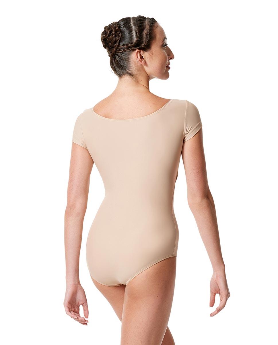 בגד גוף שרוול קצר מבד לייקרה מט