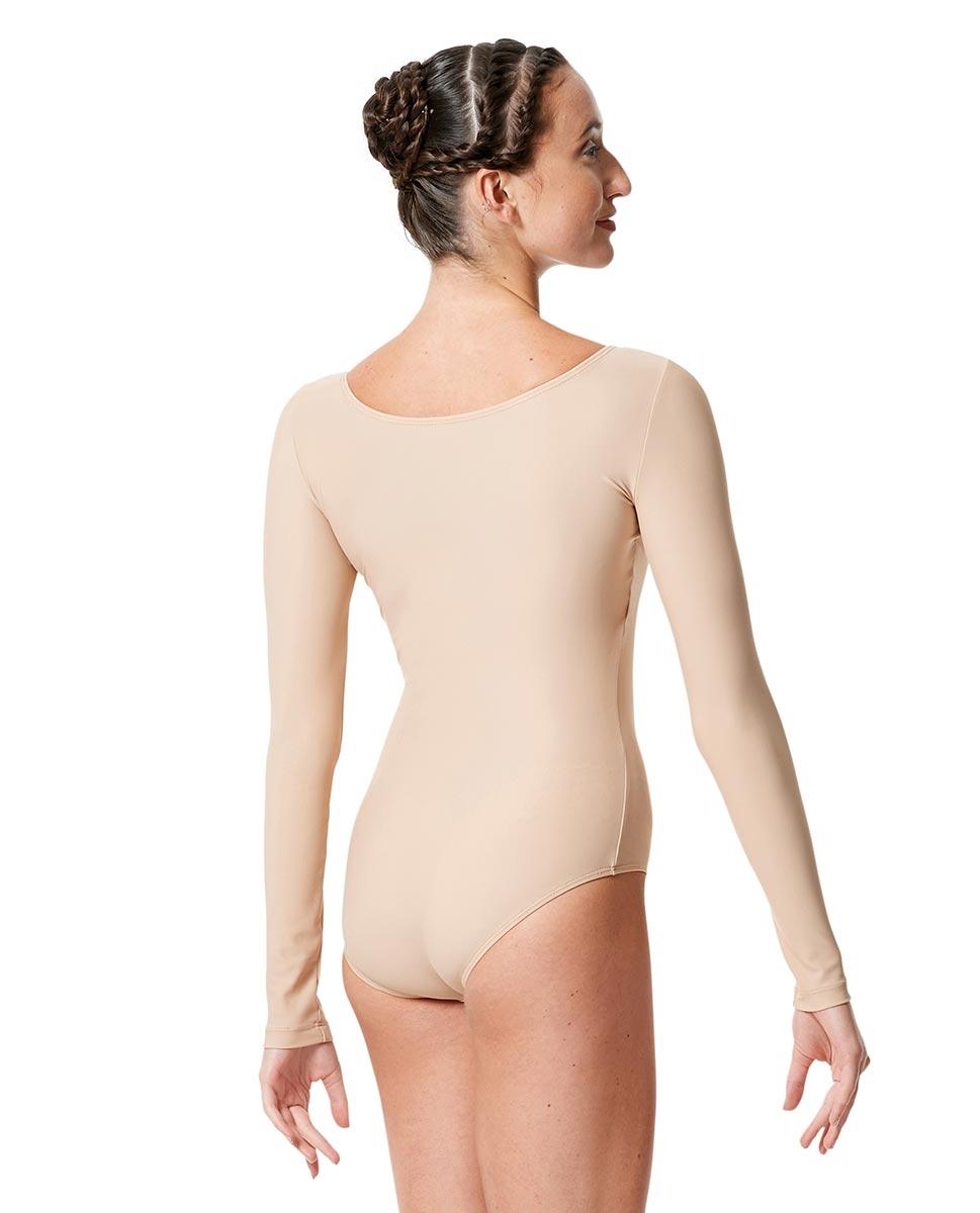 בגד גוף שרוול ארוך מבד לייקרה מט