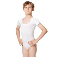 בגד גוף חצי שרוול לבנים מבד כותנה לייקרה