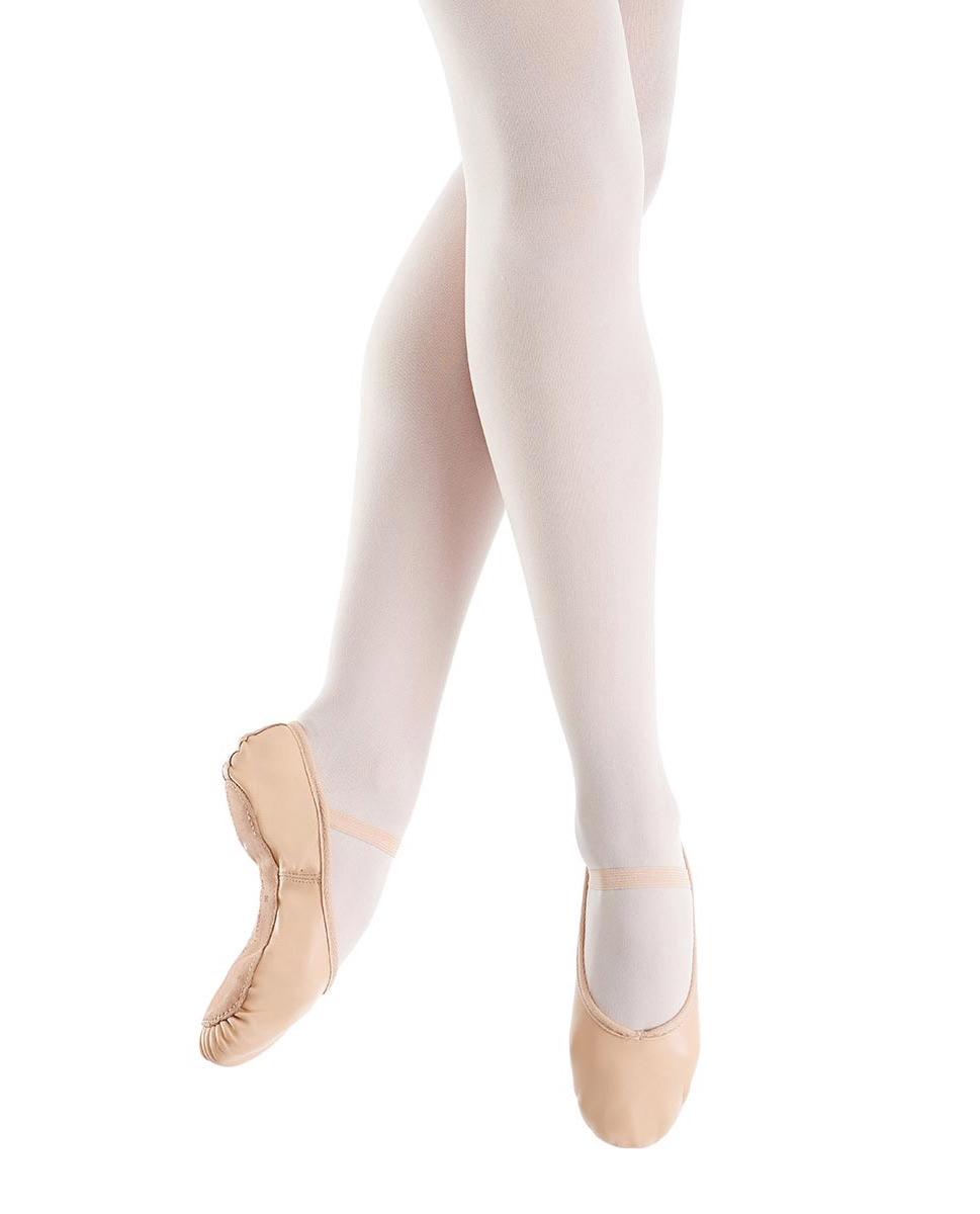 נעלי בלט מעור סוליה מלאה וגומי תפור