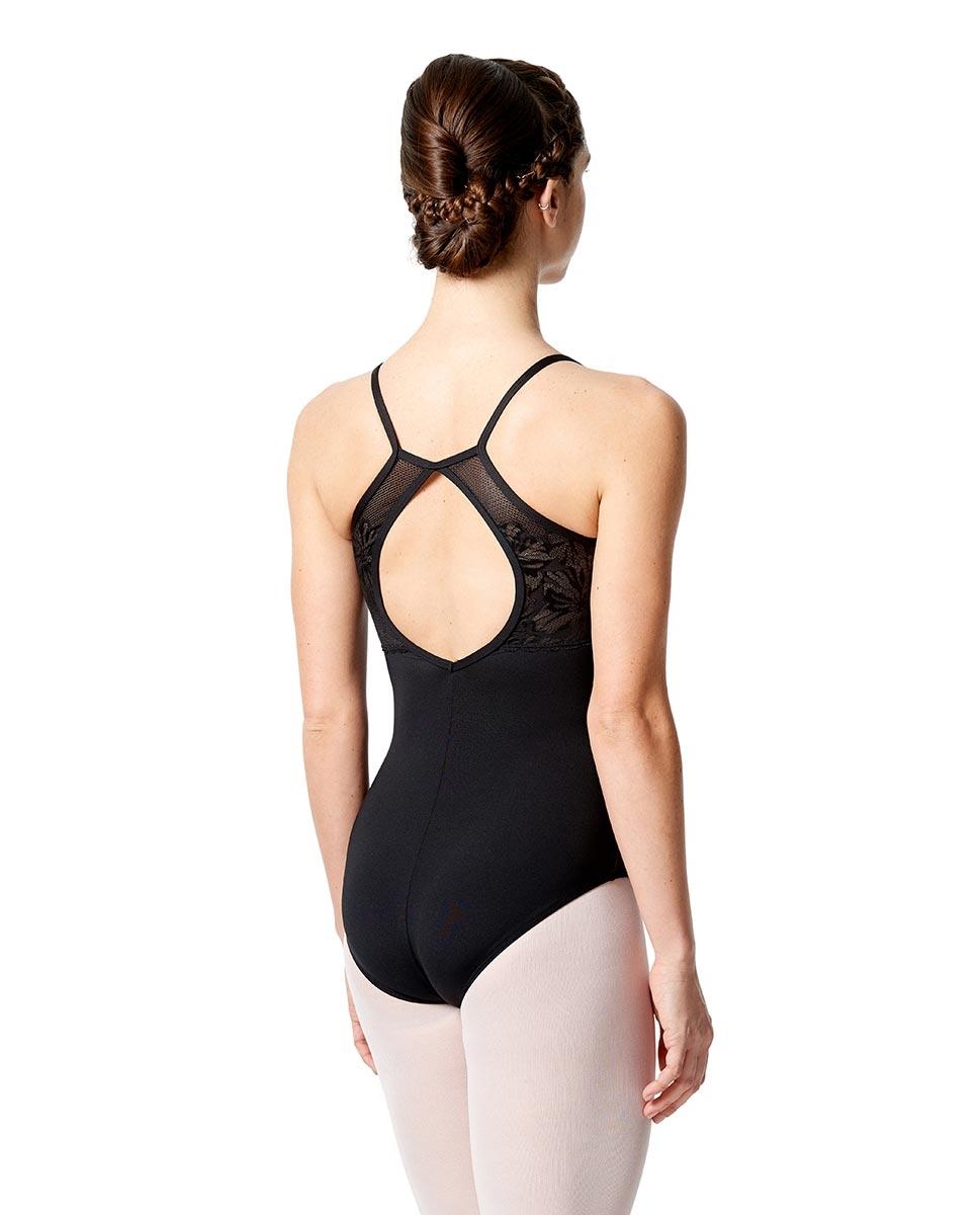 בגד גוף צווארון גבוה Maite מיקרו עם רשת רקומה