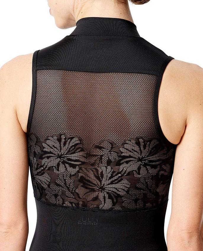 בגד גוף בשילוב רשת פרחים
