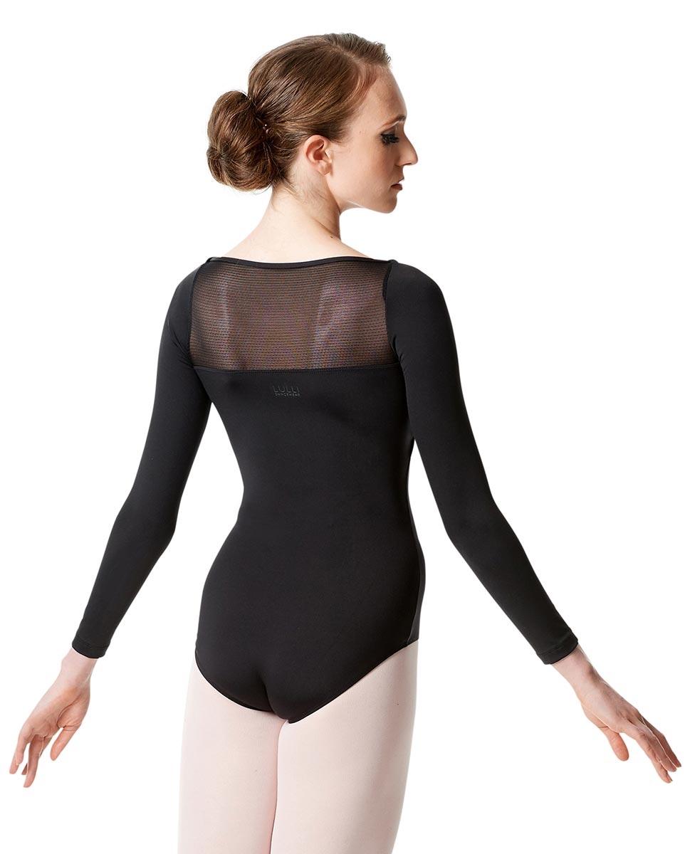 בגד גוף Isidora שרוול ארוך מיקרו עם רשת