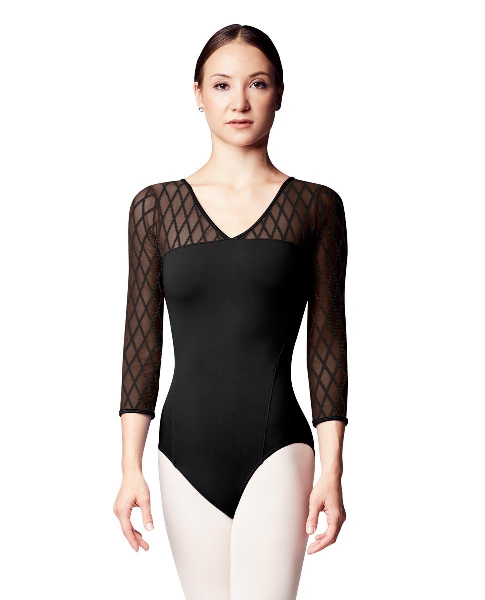 בגד גוף שרוול ארוך עם רשת