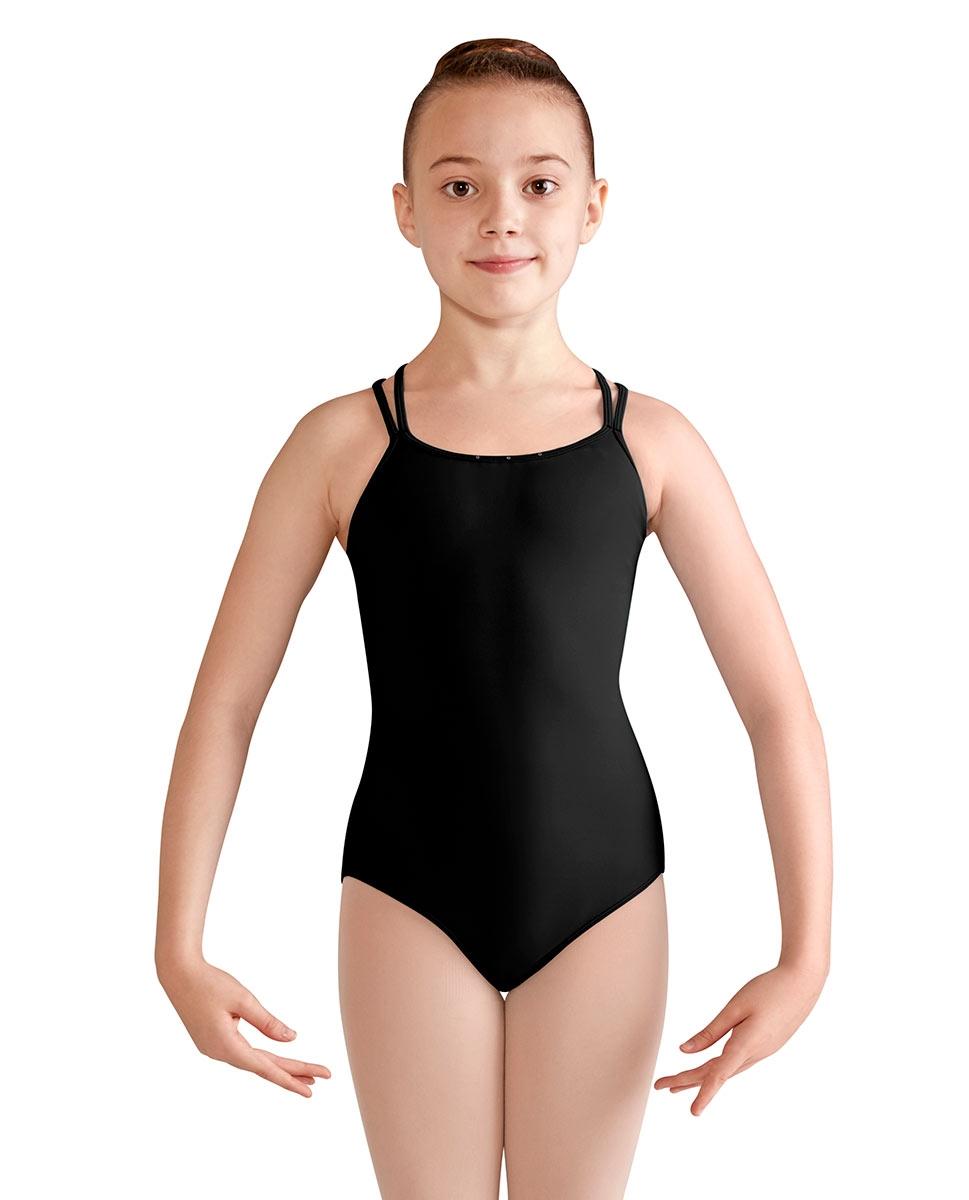 בגד גוף של BLOCH עם כתפיות כפולות בהצלבה ורשת בגב