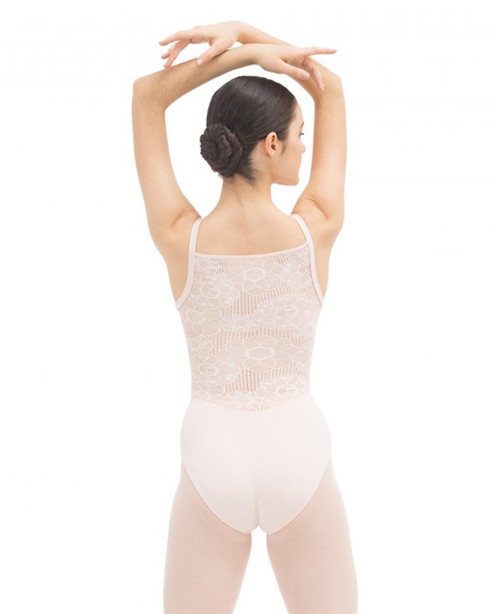 בגד גוף כתפיה דקה בשילוב תחרה בגב