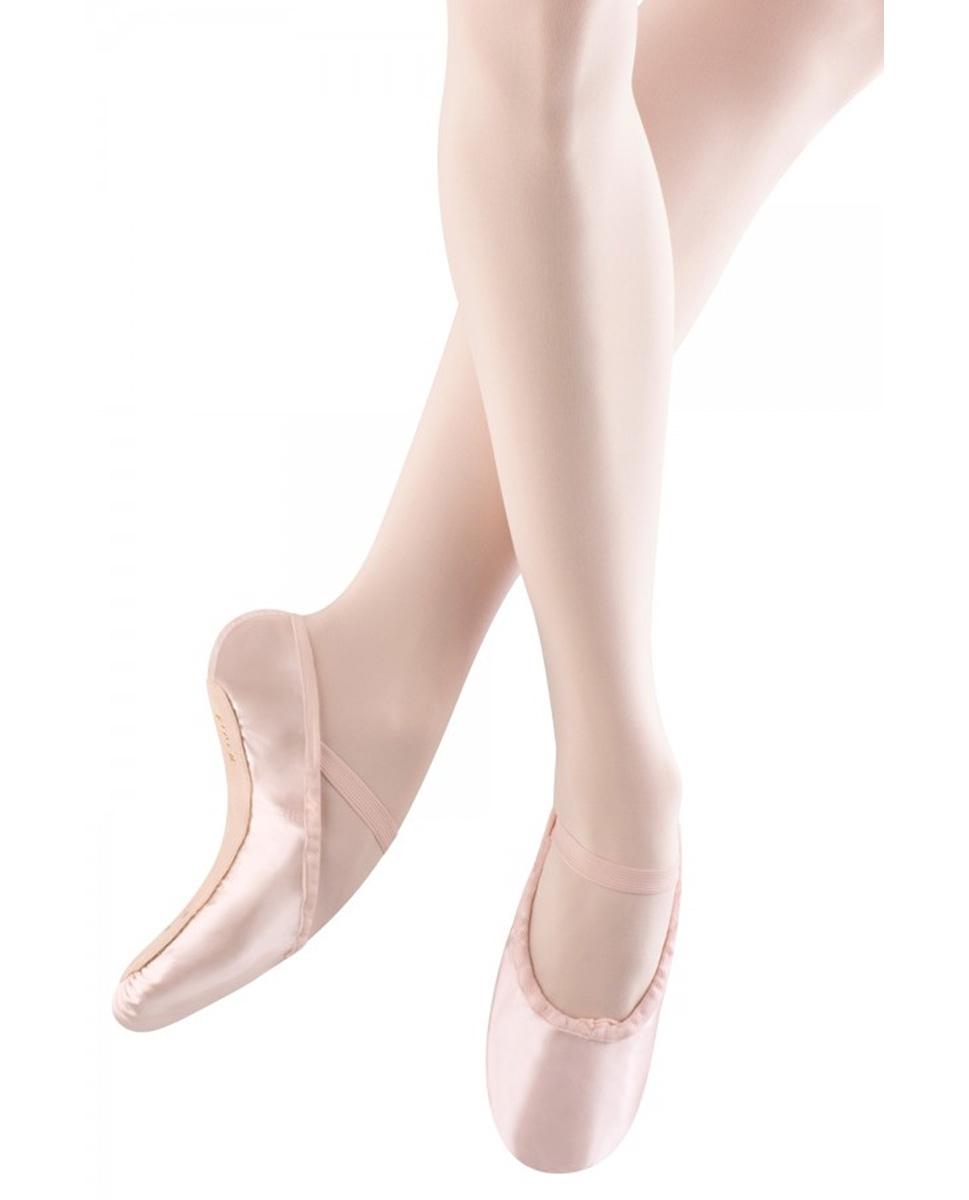 נעלי בלט סאטן סוליה מלאה לילדות