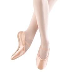 נעלי בלט סאטן אלסטי סוליה מלאה לנשים
