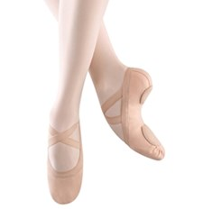 נעלי בלט אלסטיות מבד סוליה מפוצלת וגומי תפור