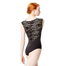 בגד גוף Aitana שרוול קצר בשילוב רשת