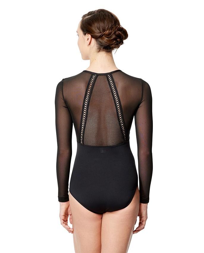 בגד גוף Simona שרוול ארוך בגזרת צווארון גבוה