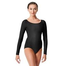 בגד גוף Kasia לנשים שרוול ארוך מבד לייקרה מבריק