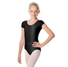 בגד גוף שרוול קצר Anastasia לילדות בד לייקרה מבריק