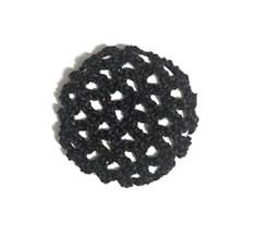רשת שיער סרוגה עם חוטים מטאלים מנצנצים