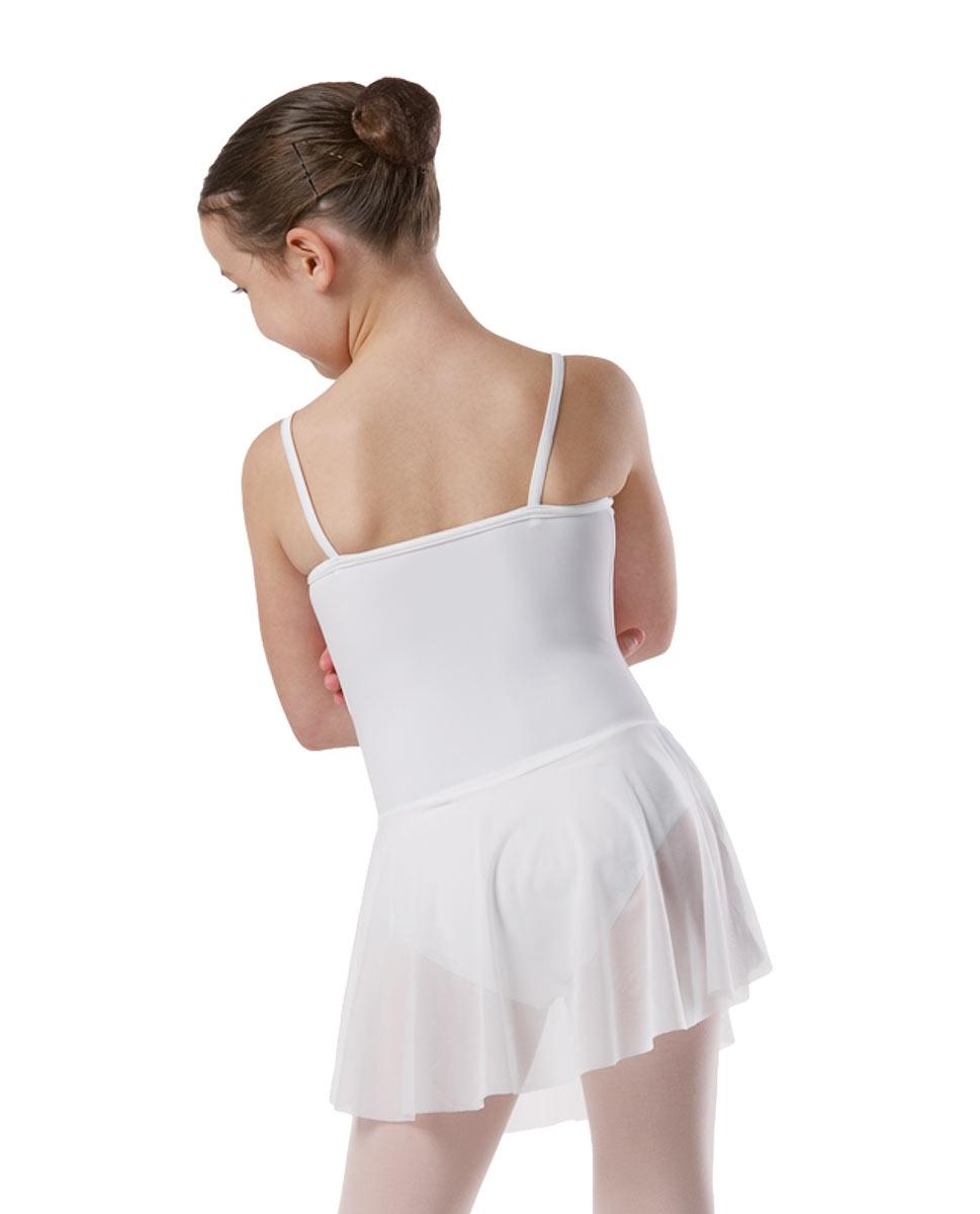 בגד גוף כתפיה דקה עם חצאית מחוברת מלייקרה מט