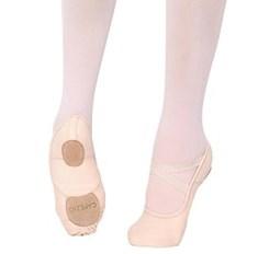 נעלי בלט מבד סוליה מפוצלת וגומיות תפורות מראש