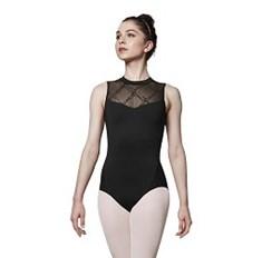 בגד גוף צווארון גבוה לנשים עם רשת