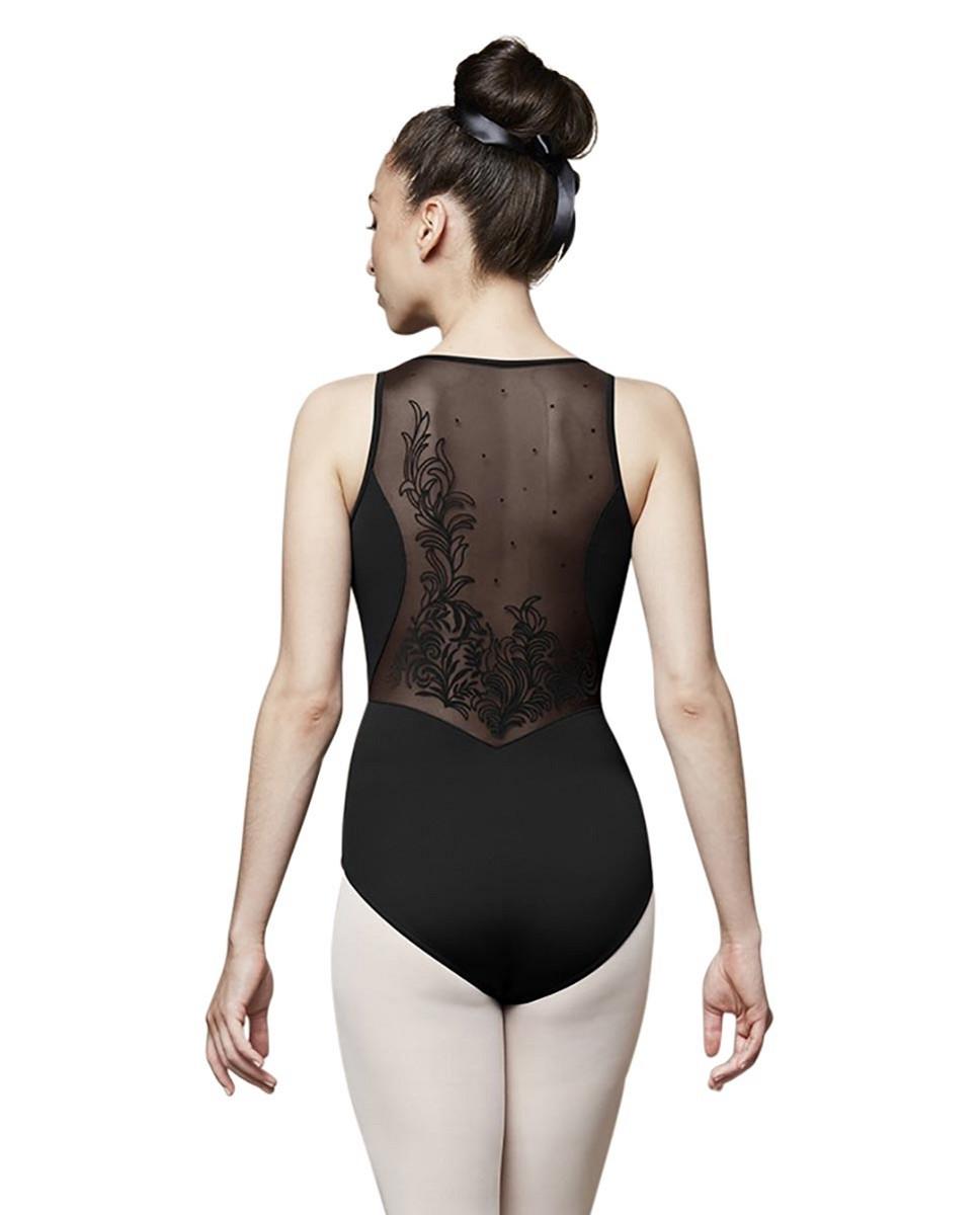 בגד גוף לנערות עם רשת מודפסת בגב