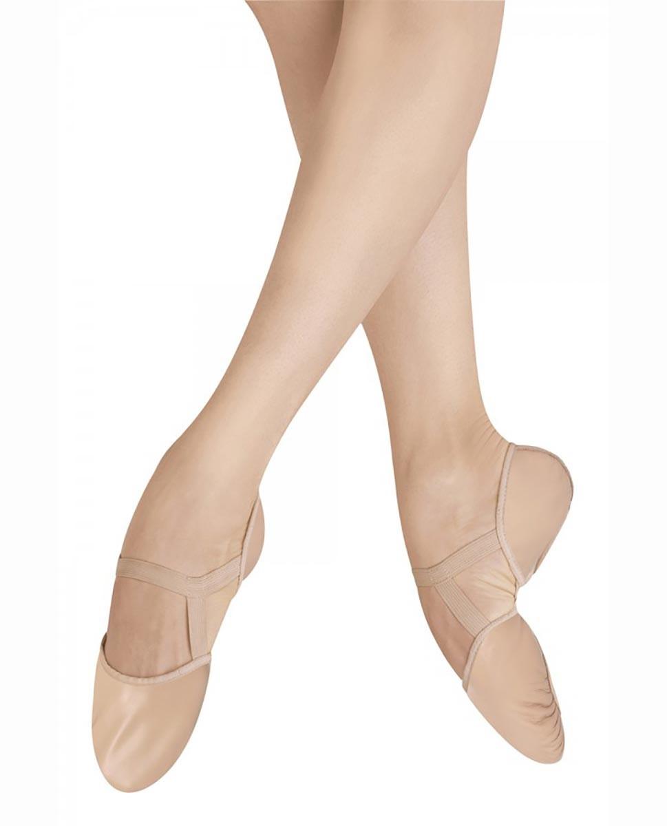 נעלי בלט סוליה מפוצלת מעור