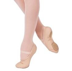 נעלי בלט מבד סוליה מפוצלת גומיה אחת תפורה מראש